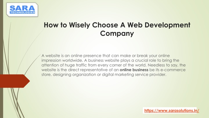 how to wisely choose a web development company n.