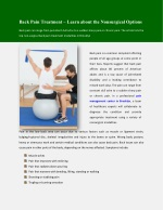 Back Pain Treatment – Learn about the Nonsurgical Options