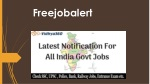Freejobalert - Latest Notifications 2019 For All India Government Jobs