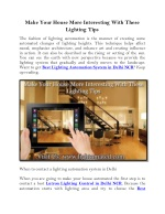 Make Your House More Interesting With These Lighting Tips