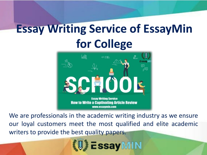 essay writing service of essaymin for college n.