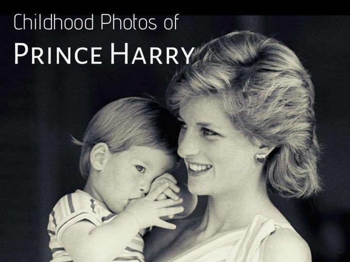 Childhood photos of Prince Harry
