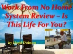 Work From No Home System Review