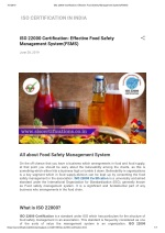 ISO 22000 Certification: Effective Food Safety Management System(FSMS)