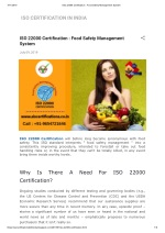 Detail knowledge about ISO 22000 Certification food safety management system.