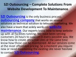 SZI Outsourcing – Creating And Maintaining Websites