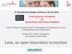 3 rd International SensAge Conference: 23 June 2014 Promoting Active Participation By