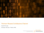 Thomson Reuters Contributions Channel