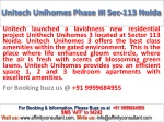 Buy Unitech Unihomes Project 09999684955 By Unitech Group