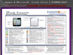 Apple and Microsoft - Quick Reference Cards (Click on Paper