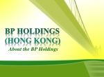 About the BP Holdings, BP Holdings Barcelona
