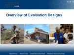 Overview of Evaluation Designs