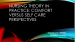 Nursing Theory in Practice: Comfort Versus Self Care Perspectives