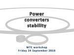 Power converters stability