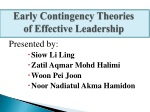 Early Contingency Theories of Effective Leadership