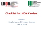 Checklist for LHON Carriers