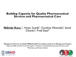 Building Capacity for Quality Pharmaceutical Services and Pharmaceutical Care