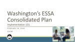 Washington's ESSA Consolidated Plan Implementation 101