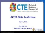 ACTEA State Conference April 7, 2016 Tim Ott, CEO Successful Practices Network