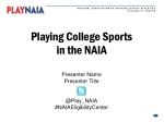 Playing College Sports in the NAIA