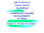 COMPETENCY-BASED MANAGEMENT 11 th  Edition