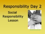 Responsibility Day 2 Social Responsibility Lesson