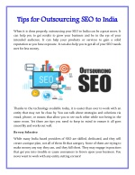 Tips for Outsourcing SEO to India