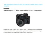 Samsung NX11 Adds Improved i-Control Integration