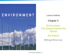 Lecture Outlines Chapter 5 Environment: The Science behind the Stories  4th Edition