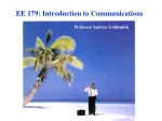 EE 179: Introduction to Communications