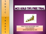 mcx gold tips free trial