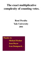 The exact multiplicative complexity of counting votes.