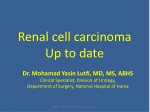 Renal cell carcinoma Up to date
