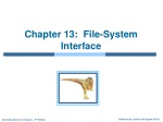 Chapter 13:  File-System Interface
