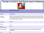 Tiny Ball vs. Evil Devil - Best Physics Game for Windows 8