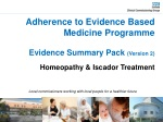 Adherence to Evidence Based Medicine Programme Evidence Summary Pack (Version 2)