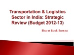 Transportation & Logistics Sector in India: Strategic Review (Budget 2012-13)