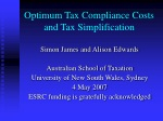 Optimum Tax Compliance Costs and Tax Simplification