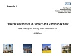 Towards Excellence in Primary and Community Care Tees Strategy for Primary and Community Care