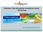 Mistakes That Should Be Avoided In Email Marketing