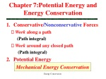 Chapter 7:Potential Energy and Energy Conservation