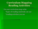 Curriculum Mapping Reading Activities
