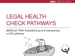 Legal Health Check Pathways