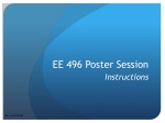 EE 496 Poster Session