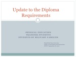 Update to the Diploma Requirements