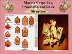 Marine Corps Pay, Promotion and Rank Structure