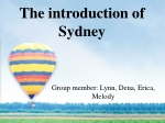 The introduction of Sydney