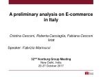 A preliminary analysis on E-commerce in Italy