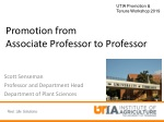 Promotion from Associate Professor to Professor